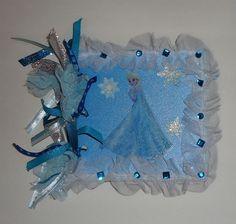 "Premade Disney Frozen Scrapbook Album 6"" x 6"" Chipboard Elsa Anna Olaf  #Disney"