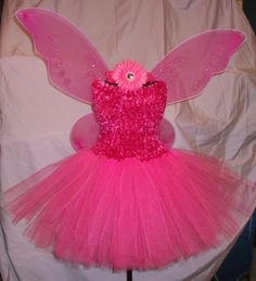 @Rachael Munro  Handmade Girls Hot Pink Pixie Butterfly Fairy Princess Tutu