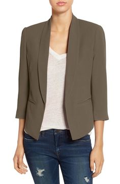 Stitch Fix Stylist - blazer (olive is not a good color for me, but I like the 3/4 sleeves and shape of this blazer)