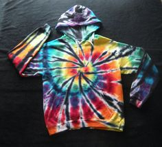 Adult Small Tie Dyed Hoodie