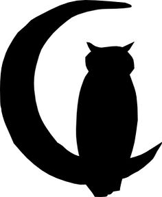 Owl Moon clip art_ i like the cute little choppy way its done. :) i love this one