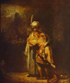 Rembrandt - Departing of David and Jonathan