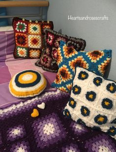Cushions, Blanket, Crochet, Projects, Throw Pillows, Log Projects, Toss Pillows, Blue Prints, Pillows