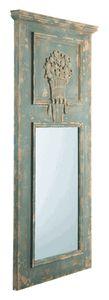 Wood Trumeau Mirror
