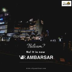 """Do you know that Trilium is now """"VR AMBARSAR"""" Yes the extravagant mall of the city, TRILIUM is now acquired by the VR chain of malls. So now your favourite mall is renamed as VR AMBARSAR. Know more about City Amritsar. Meditation Retreat, Golden Temple, Virtual Travel, Amritsar, 16th Century, Vr, Holi, Travel Guide, Attraction"""
