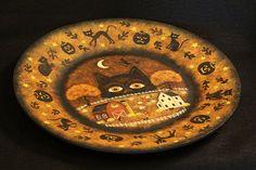 Original OOAK  Halloween Folk Art  Hand Painted by Ravensbend, $38.00