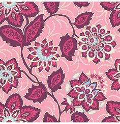 Joel Dewberry Fabric / ORNATE FLORAL in Amethyst / Heirloom Collection