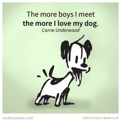Even though she's now married, we still love this quote! #muttscomics