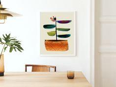 Small Art, Large Wall Art, Pink Wall Art, Botanical Wall Art, Mid Century Art, Abstract Wall Art, Traditional House, Artwork Prints, Printable Art