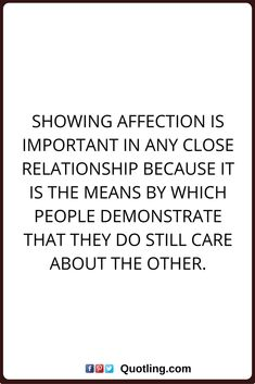 What is affection in a relationship