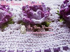Artes da Desi: Tapete Oval Flor Coroa de Rainha de Crochê