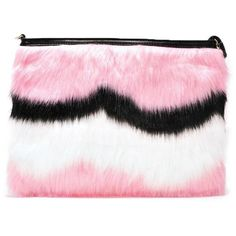 Nasty Gal WANT Different Strokes Faux Fur Clutch (€24) ❤ liked on Polyvore featuring bags, handbags, clutches, blush, multi colored purses, multi colored clutches, pink handbags, faux fur clutches and colorful clutches