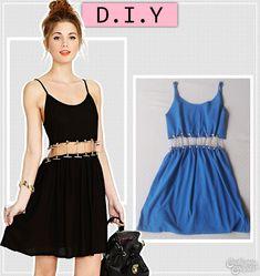 DIT chain dress | DIY vestido com correntes | DIY fashion | More details on http://www.cademeuchapeu.com/diy-vestido-com-correntes