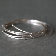 Stack+Bangle+in+Sterling+Silver+by+MichelleChangJewelry+on+Etsy,+$24.00