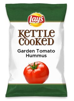 Wouldn't Garden Tomato Hummus be yummy as a chip? Lay's Do Us A Flavor is back, and the search is on for the yummiest flavor idea. Create a flavor, choose a chip and you could win $1 million! https://www.dousaflavor.com See Rules.