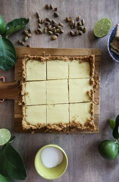 Lime tart with pistachio crust | One Little Minute