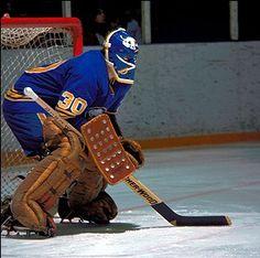 Gerry Desjardins | Buffalo Sabres Hockey Shot, Hockey Helmet, Ice Hockey Teams, Hockey Goalie, Hockey Stuff, Hockey Games, Buffalo Hockey, Buffalo Sabres, The Sporting Life