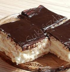 Hungarian Desserts, Hungarian Recipes, Appetizer Recipes, Dessert Recipes, Different Cakes, Baking And Pastry, Cakes And More, No Bake Cake, Sweet Recipes