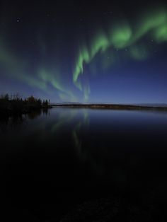 Aurora Borealis Over Long Lake, Northwest Territories, Canada