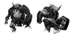 ArtStation - Rhinos, Anthony Jones