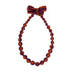Marimekko Chestnut/Blueberry Satu Necklace $49.00