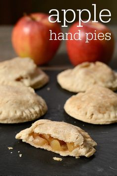 These apple hand pies are such a delicious snack or dessert! They're the perfect little treat recipe to make with fresh apples during the fall. Fruit Recipes, Apple Recipes, Real Food Recipes, Baking Recipes, Dessert Recipes, Retro Recipes, Baking Tips, Yummy Recipes, Recipes