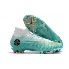 acd2fd9e497e5 Botas De Futbol Nike Niños Mercurial Superfly VI Elite CR7 FG Verde Dorado  Blanco