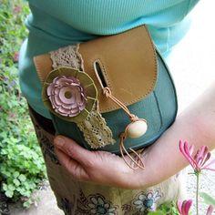 Handmade Leather clutch Purse Bag dark honey and by Fairysteps, £38.00
