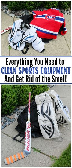 How to Clean Sports Equipment {and Get Rid of the Smell If anyone in your family, plays sports, this is a MUST READ! Lots of tips and tricks to get all of that sports equipment cleaned and to keep those smells away!