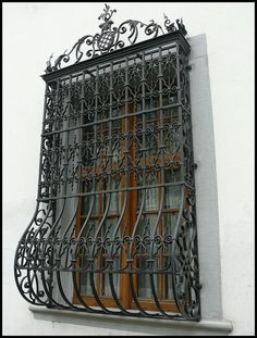wrought iron window