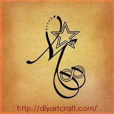 Letter M Tattoo Designs Butik Work Tattoos Tattoos Letter M