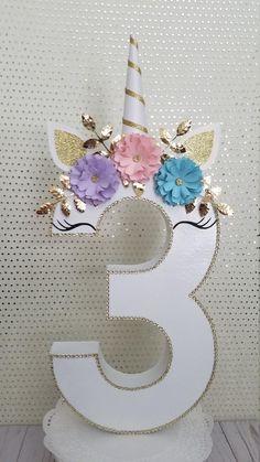 Unicorn birthday party, unicorn number decor, photo prop decor, smash cake unicorn decor, - Unicorn birthday Unicorn party your room has Diy Unicorn Birthday Party, Unicorn Birthday Parties, Birthday Party Themes, Girl Birthday, Birthday Gifts, Birthday Ideas, Birthday Parties For Kids, Diy Birthday Number, 21st Party