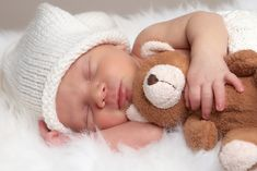New born pictures | Home Baby Picture Baby Picture Baby Sleeping With Teddy Wallpapers