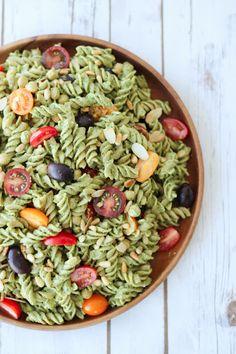 Vegan Pesto Gluten Free Pasta Salad   Healthy Summer Potluck Recipe   Yummly