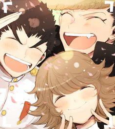 Ishimaru Kiyotaka,Oowada Mondo y Fujisaki Chihiro
