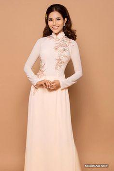 Gợi ý 6 mẫu áo dài cưới pastel dịu dàng - Ngoisao Ngôi sao