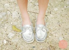 Silver Sperry Top-siders ❤