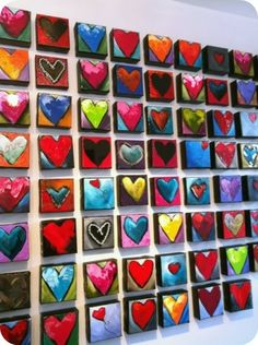 Could do on small wood or cardboard squares craft-ideas