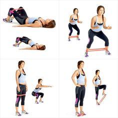 leg workout with bands * leg workout ; leg workout at home ; leg workout with weights ; leg workout for men ; leg workout with bands Mini Band Exercises, Leg Workout With Bands, Leg Workout At Home, Thigh Exercises, Excersise With Bands, Stretch Band Exercises, Fitness Workouts, Gym Workout Tips, Band Workouts