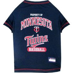Pets First MLB Minnesota Twins Pet Tee Shirt, Multicolor