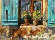 Terry Harrison. #aquarela