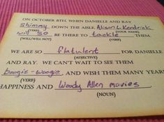 Best RSVP card ever. Could you imagine the replies you would get from friends?!