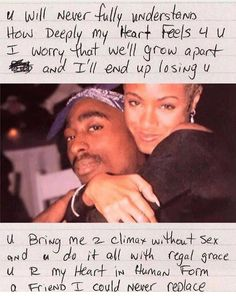 Tupac quotes - Tupac & Jada pinkett Smith i swear their bond was everything they definitely would have been together if he didn't get killed R I P Tupac And Jada, Mood Quotes, Life Quotes, Tupac Love Quotes, Lyric Quotes, Tupac Poems, Quotes Quotes, Qoutes, Tupac Wallpaper