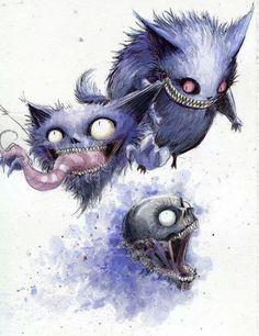 Pokemon Ghosts Are Spirits of Cheshire Cat Creepy Pokemon, Ghost Pokemon, Kon Bleach, Fan Art Pokemon, Photo Pokémon, Character Art, Character Design, Manga, Ghost Type