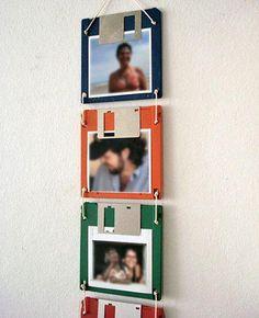 Portarretratos con diskkettes