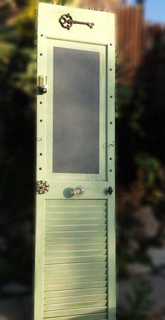 Repurposed shutter door.