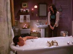 Monica Geller's purple bathroom on Friends