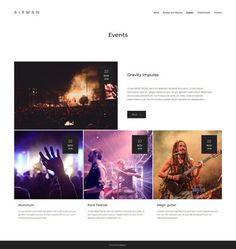 Cool website for events and bands promotion Create Website, Social Networks, Promotion, Wordpress, Bands, Events, Beautiful, Band, Band Memes