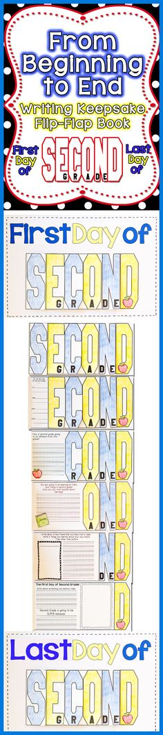 FUN, Interactive, and a great Keepsake for your parents. Have your students create a S-E-C-O-N-D Grade Flip-Flap Writing Keepsake on the First Day of School and the Last Day of School. Parents will cherish it for years to come!$