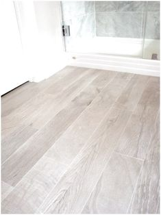 bathrooms - Italian Porcelain Plank Tile, faux wood tile, tile that looks like wood, Italian Porcelain Plank Tile Bathroom Floor click the image or link for more info. Faux Wood Flooring, Plank Tile Flooring, Wood Plank Tile, Modern Flooring, Wood Tile Floors, Flooring Ideas, Ceramic Flooring, Hardwood Tile, Wood Tiles Design
